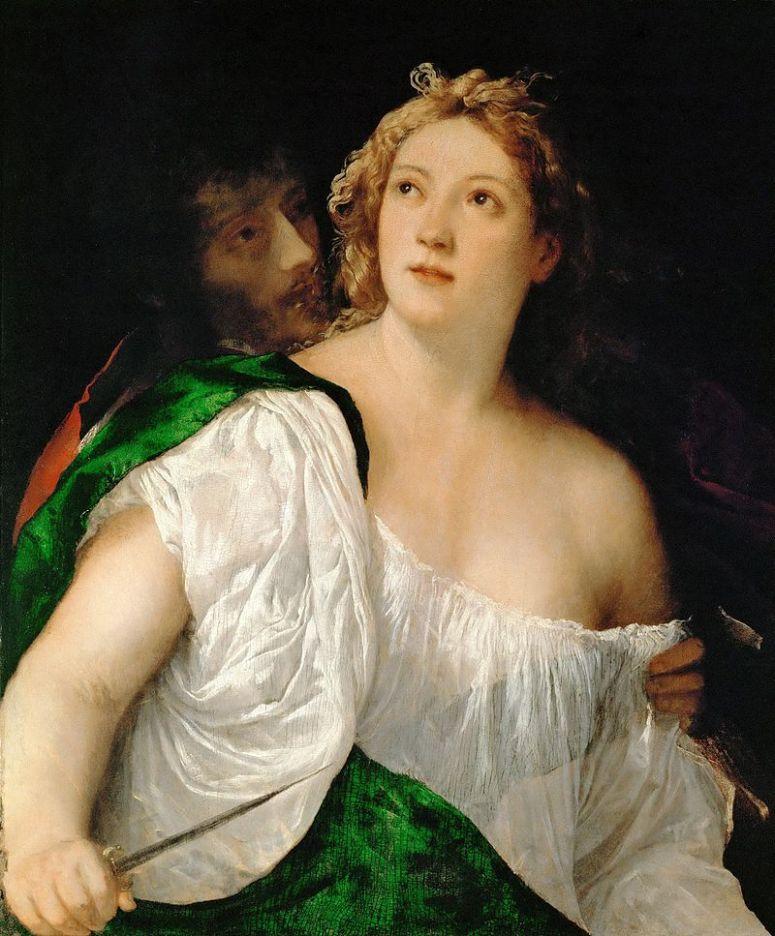 lucretia - titian 1515